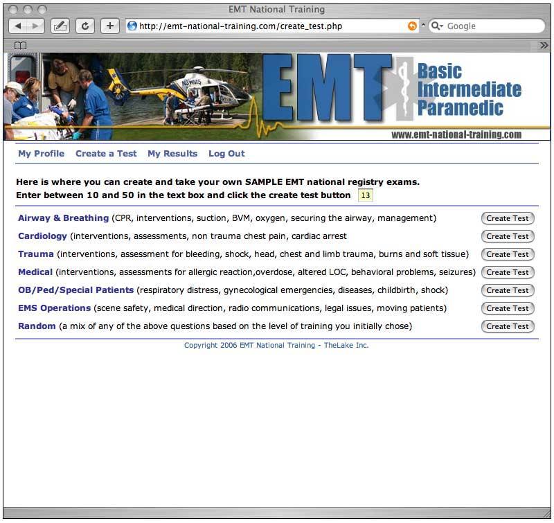 EMT Testing - How the EMT practice tests work